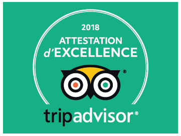 Certificat d'Excellence de Tripadvisor